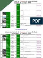 Lista Cu Apartamente de 2 Camere de Vanzare Din Bacau Actualizata La 30 Noiembrie 2011(Download PDF)