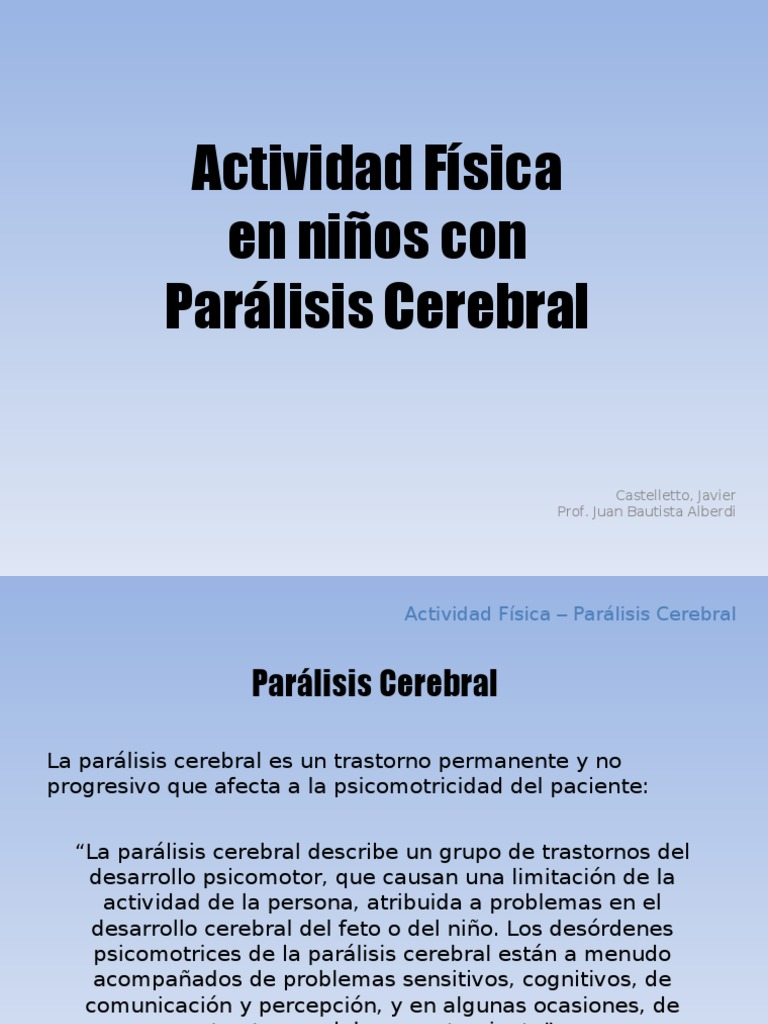 _Actividad fisica en niños para paralisis cerebral