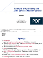 A Real-Life Example of Appraising and Interpreting CMMI Services Maturity Level 2 Nov 2010