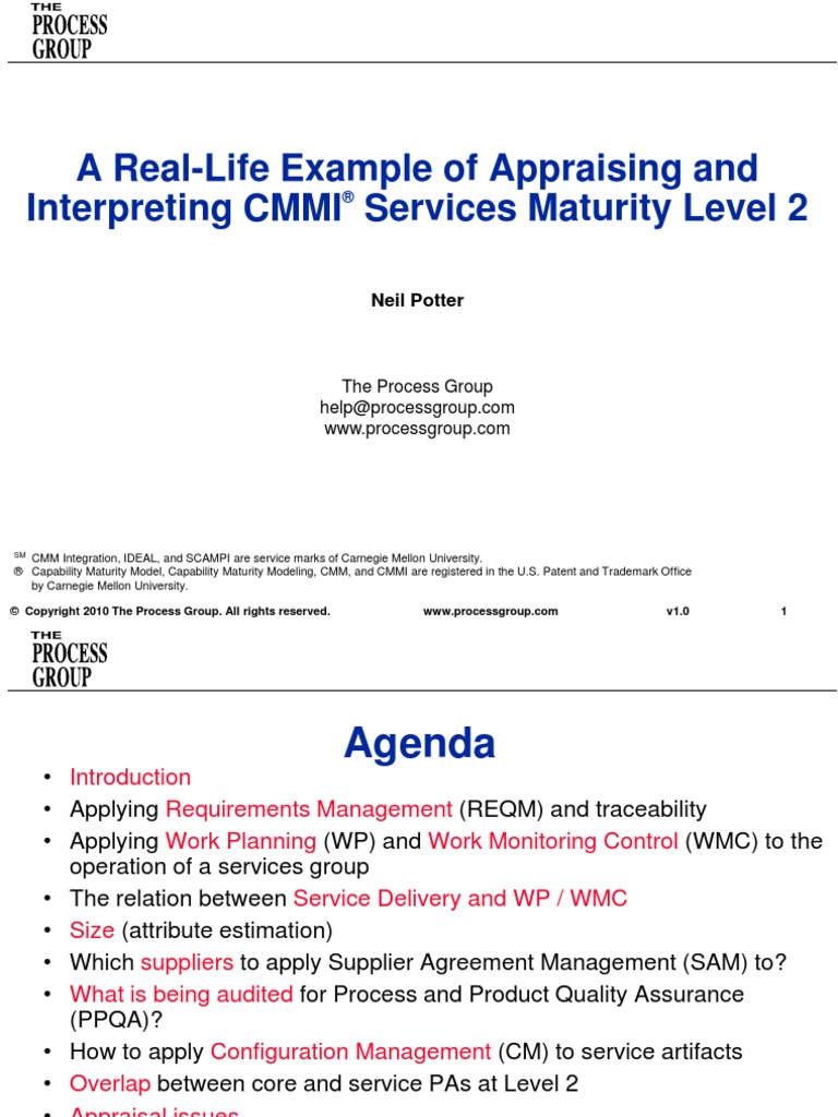A Real Life Example Of Appraising And Interpreting Cmmi Services