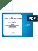 CERTIFICATE OF IEEE MEMBERSHIP