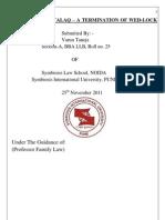 talaq under family law