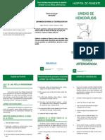 Recomendaciones Generales al paciente Portador de una Fístula Arteriovenosa