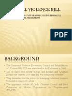 Power Point on Communal Violence Bill 2011