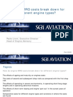 How Do MRO Costs Breakdown for Different Engine Types