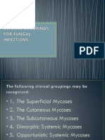 Clinical Groupings for Fungal Infections