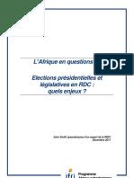 Ifri Actuelle 9 Elections RDC