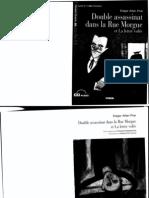 E.Poe - Double assassinat dans la Rue Morgue et La lettre volée