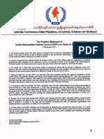 UNFC Stmt on Internal Peace Eng