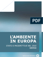 L'AMBIENTE IN EUROPA_SOER 2010 Synthesis New