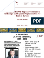 Activities of the OIE Regional Commission