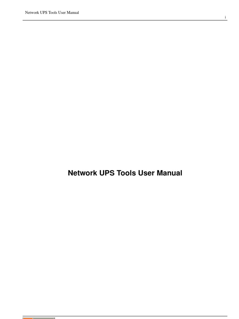 NetworkUPSTools-UserManual | Port (Computer Networking