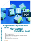 Requirements Specifications of the Horizontal Industrial Use Case