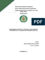 Informe de Pasantias Instrumentacion