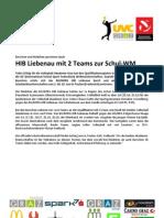 HIB Liebenau mit 2 Teams zur Schul-W