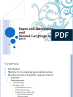 Input and Interaction and Second Language Acquisition