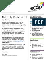 ecdp Email Bulletin 31