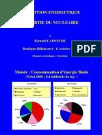 Transition Energetique & Sortie Nucleaire par B.Laponche