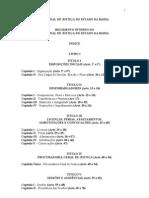 Regimento Interno Tribunal