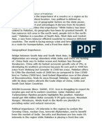 Geo Strategic Importance of Pakistan