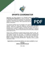 Sports Coordinator Jobs