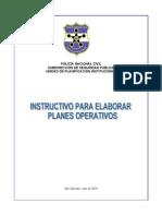 Instructivo Elaboracion Planes Operativos 15julio2010.