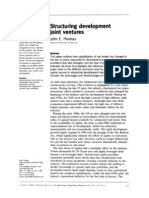 Thomas, John. Structuring Development Joint Ventures. Developoment Magazine, National Association of Industrial and Office Properties. Spring 2002, Pages 26-29