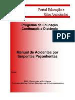 Manual Serpentes Peconhentas