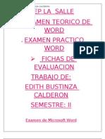 Examen de Microsoft Word