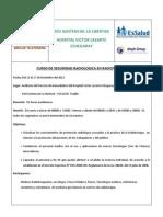 Invitacion Curso de Seguridad Radio Logic A en Radioterapia