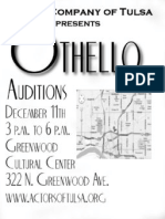 Othello Auditions