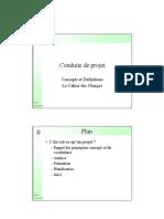 Conduite de Projet Et Cahier Des Charges