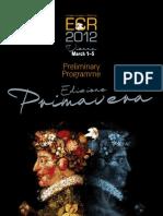 ECR 2012 Preliminary Programme SpringEdition-Webversion