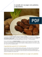 Ternera Asada en Su Jugo Con Patatas