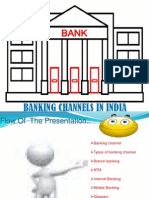 banking channels...in india