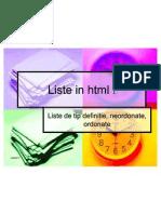Liste in HTML !