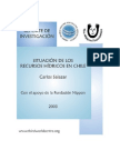 Recursos Hidricos Chile Recurso