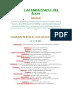 Manual de Classificação Das Ervas