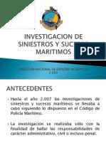 Investigacion de Siniestros y Sucesos Maritimos