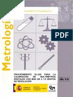 calibracion multimetros digitales españoles