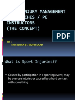 Sport Injury Management for Coaches