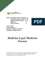 Trabalho sobre Medicina Legal e laboratórios forenses