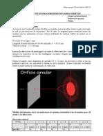 DIFRACCIÓN DE FRAUNHOFER POR VARIOS OBJETOS
