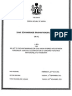 Nigeria Same Sex Marriage Bill-final