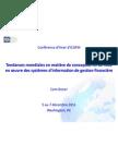 Tendances mondiales en matière de conception et de mise en œuvre des systèmes d'information de gestion financière