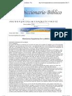 Versiones Españolas De La Biblia - Diccionario Biblico - Fragancia de Cristo