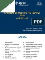 Encuesta de usos TIC (INE-AGESIC) 2011