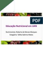 Apresentação - Educação Nutricional em UAN