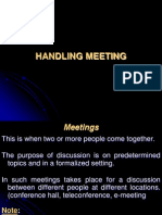 Handling Meeting