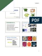 Microbiologia aula 1- Introdução a microbiologia